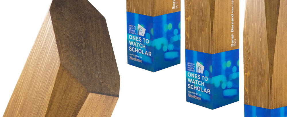 eco friendly awards made from sustainably sourced cedar