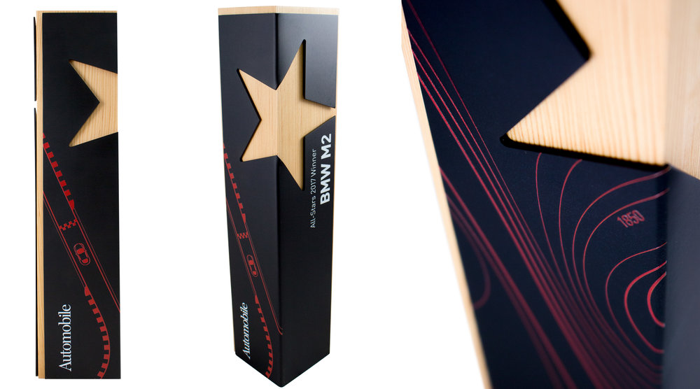 custom star award corporate achievement