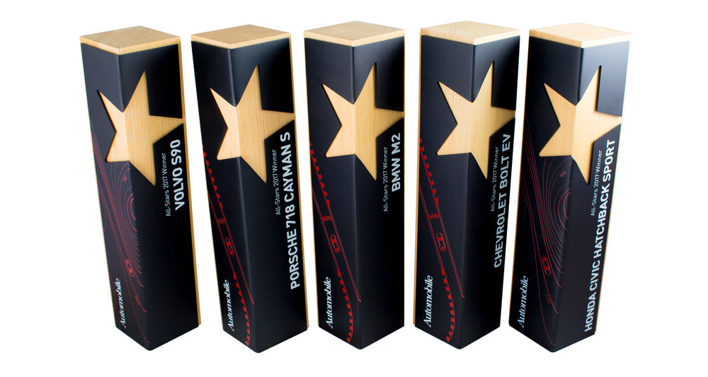 custom star award corporate achievement modern