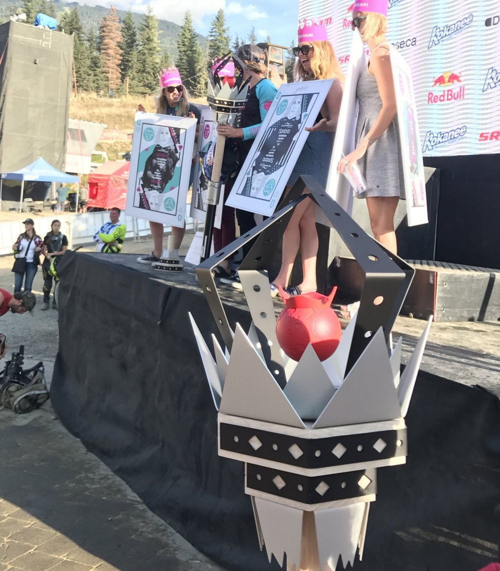 crankworx whistler custom sceptre winner trophy downhill mountain biking festival