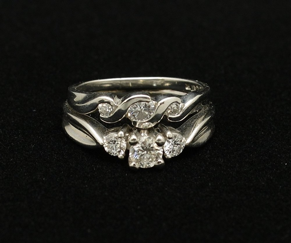Vintage Platinum Diamond Ring .65cts