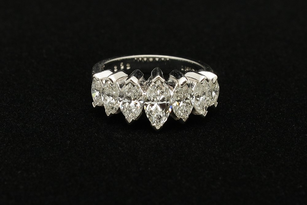 Vintage 14kt Diamond Ring 3cts