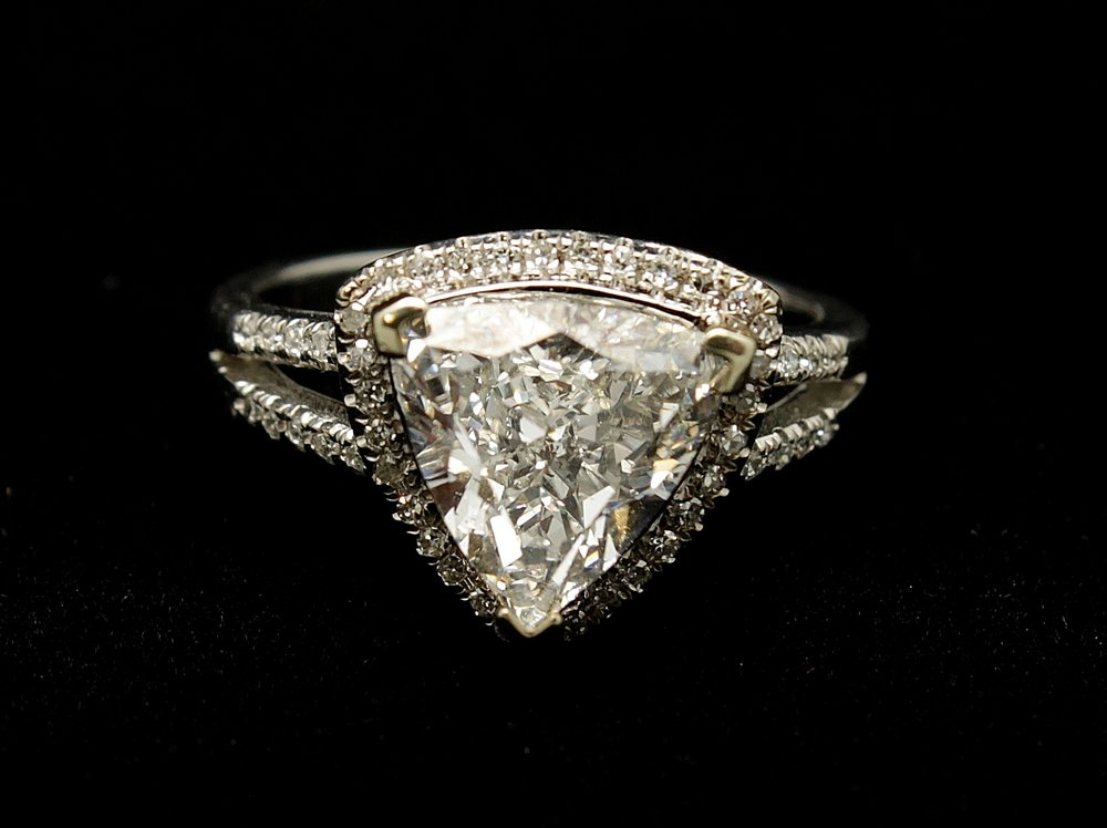 Vintage 14kt Diamond Ring 2.5cts