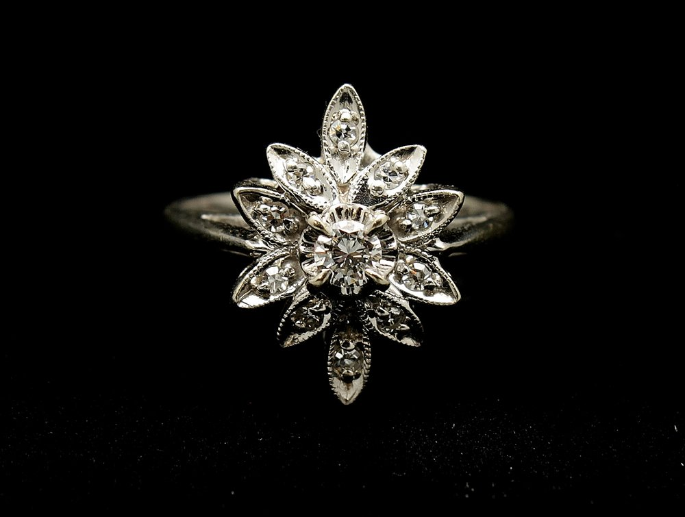 Vintage 14kt Diamond Ring .75cts Ring