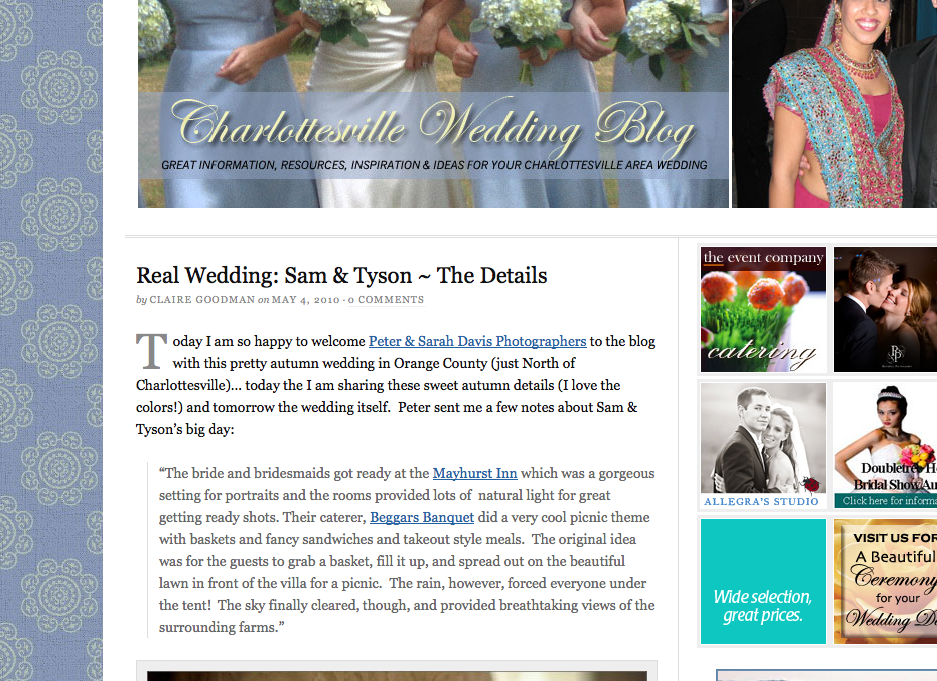 CVIlle wedding blog