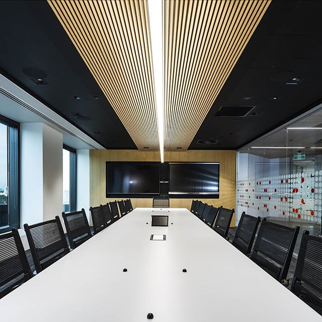 Boardroom with fine lines at APA headquarters Melbourne.  #boardroom #archdaily #architecture #melbourne #melbourneinteriors #melbournearchitecture #interiordesign #interiors #apagroup