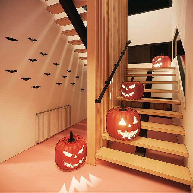 Happy Halloween!  #archdaily #architecture #render #revit #halloween #allhallowseve #pumpkin