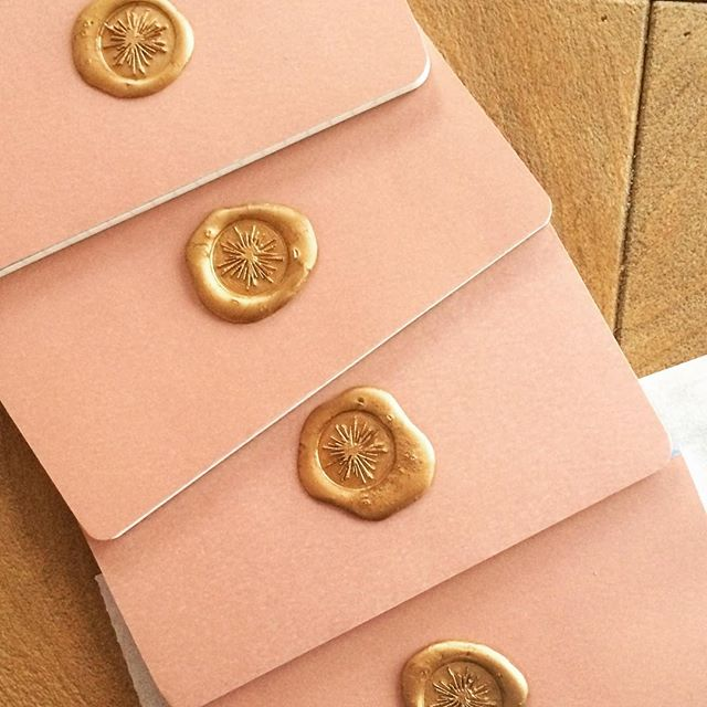 A few pretties ready for new @esteraevents @estera_style clients!! #waxseal #rosequartz
