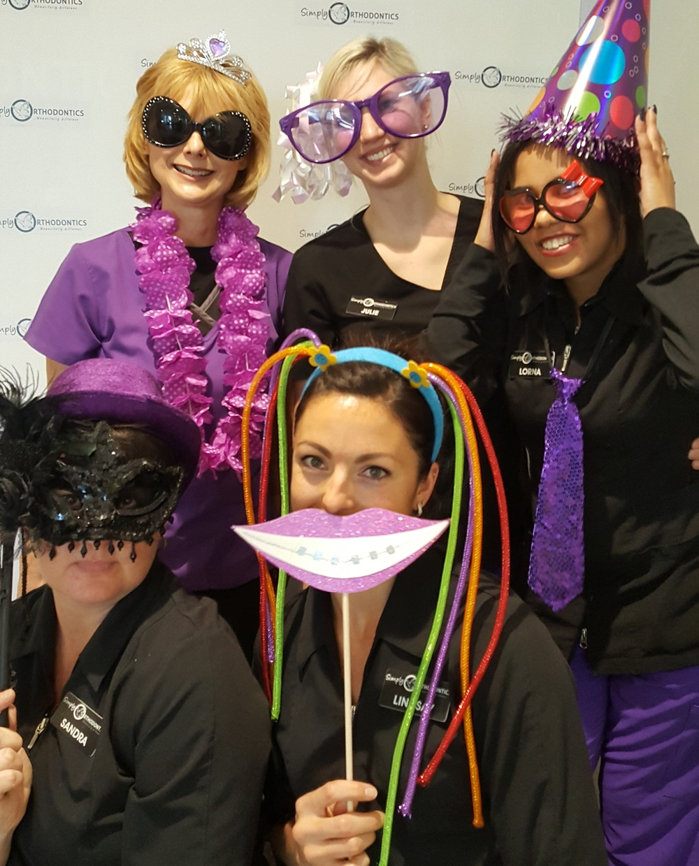 A few from the team at Simply Orthodontics celebrate 3 years of  providing  orthodontic care to Edmontonians.