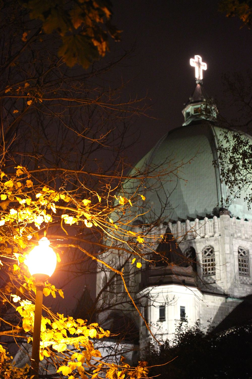 St Joseph's Oratory in the suburban streets of Montreal.