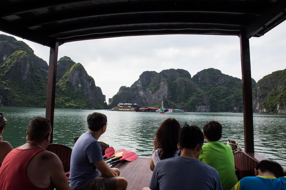 Cruising around Halong Bay.