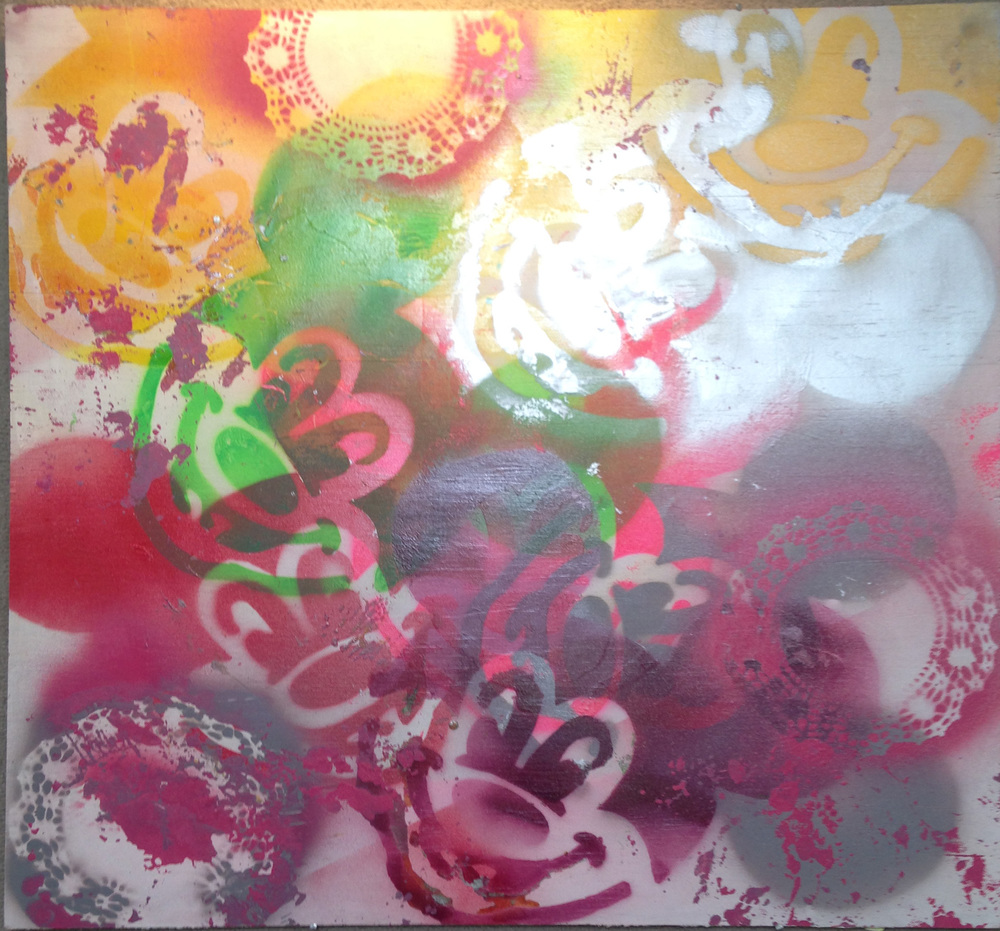 #9 Acrylic on masonite 2'x 2' This item is for sale. For more information, please contactinfo@artforceiowa.org