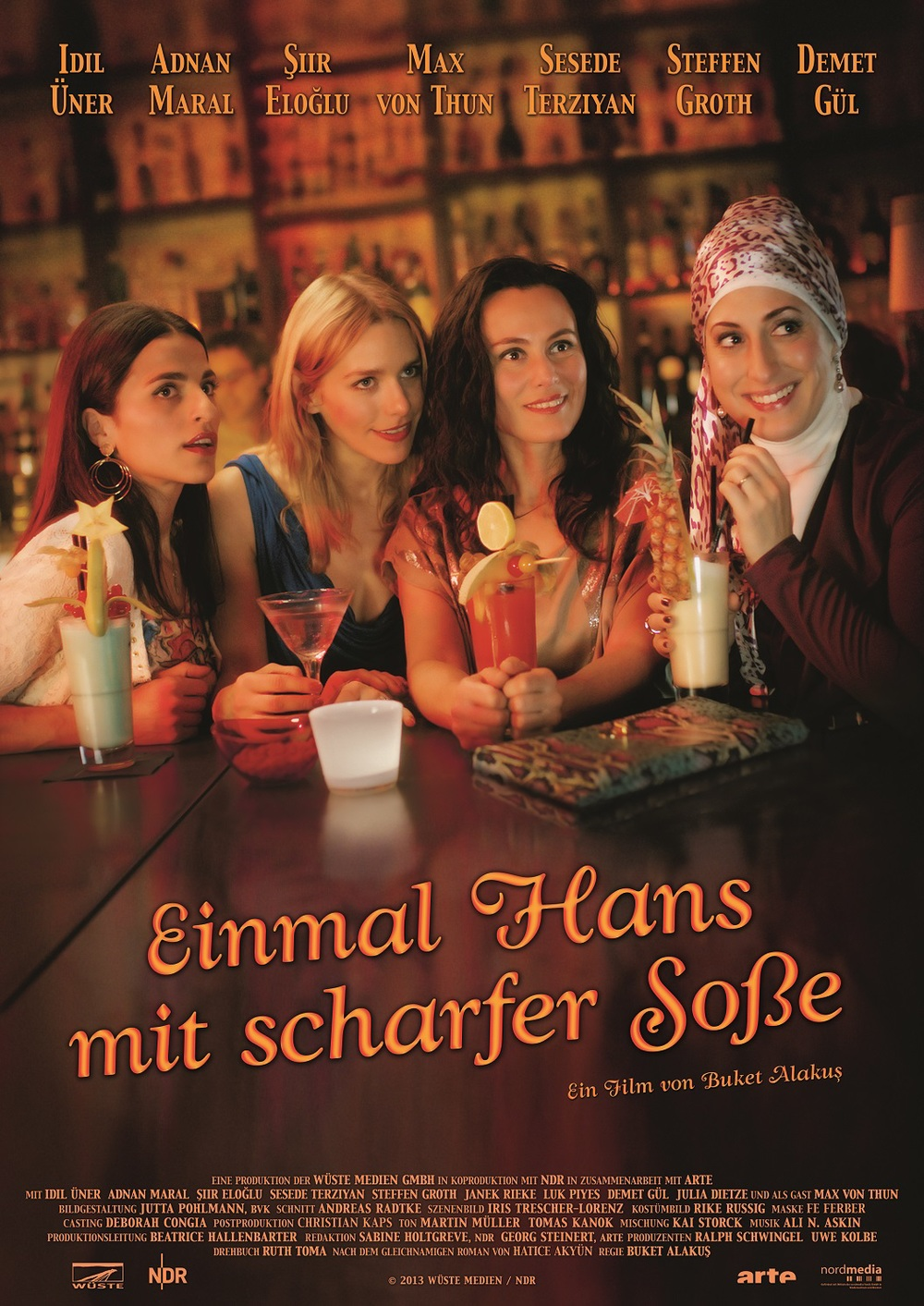 """Tomas appears in Buket Alakus' Turkish-German romantic comedy EINMAL HANS MIT SCHARFE SOSSE due to hit the cinemas JUNE 12th 2014.   View the trailer  here.    Excerpt from ArtistNetwork online magazine. http://artistnetwork.de/einmal-hans-mit-scharfer-sose-autorin-hatice-akyun-uber-julia-dietze/  Hatice Akyün:""""The adaption of my book (""""Einmal Hans mit scharfer Soße"""") for the movie is a dream come true. The script is amazing and the actors are more than I could have dreamed of. The story is modern, romantic and very funny. The director Buket Alakus put a lot of commitment into the movie. She is an awesome director whose Turkish soul and German craft made the movie a very special piece. I met Julia Dietze for the first time at the premiere of """"Einmal Hans mit scharfer Soße"""". I swear – as the Turkish would say – I thought I would meet my longtime friend Julia. Julia has beautiful blonde hair and sparkling blue eyes. But most of all she has (just like the """"real"""" Julia) a Turkish soul. Her acting skills in """"Einmal Hans mit scharfer Soße"""" are refreshing and authentic. She has to take part in the sequel as well.""""  P.S. The sequel was just published: """"I kiss you, Kismet"""" – for everyone, who wants even more German-Turkish stories. This is our book recommendation of the month."""
