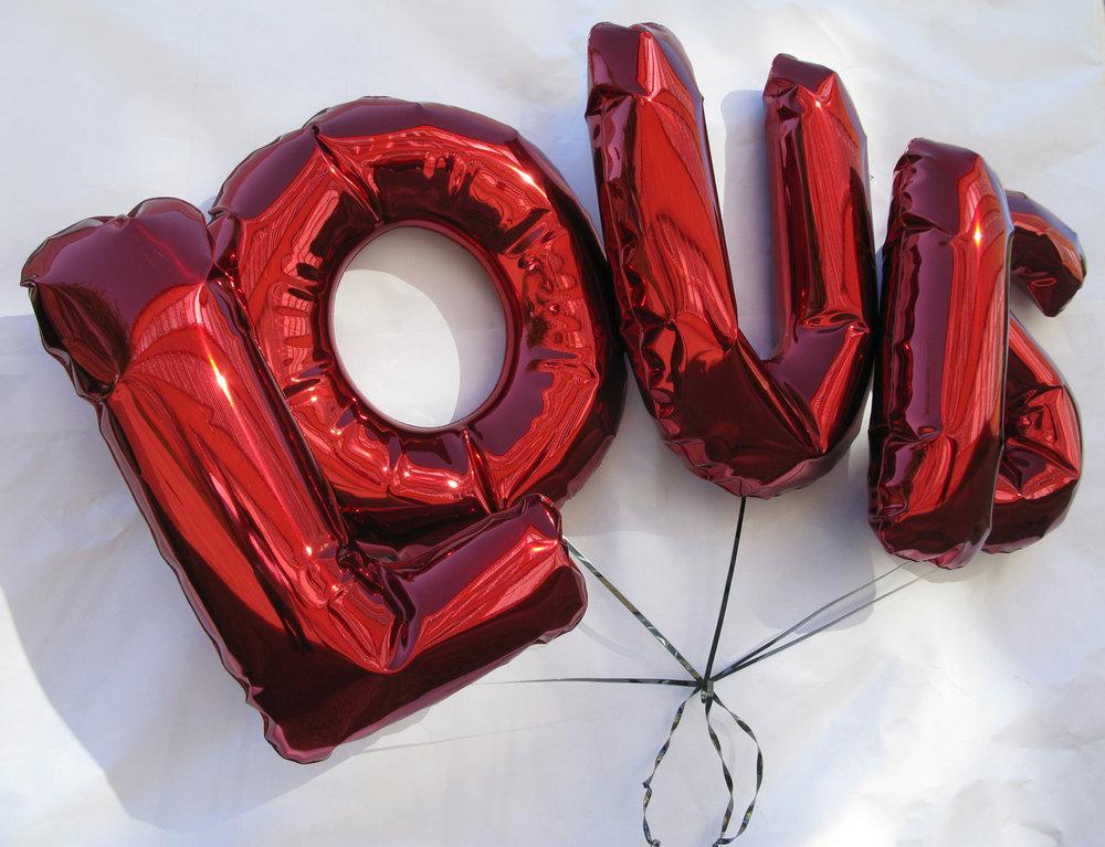 Louis LV Metal Balloons