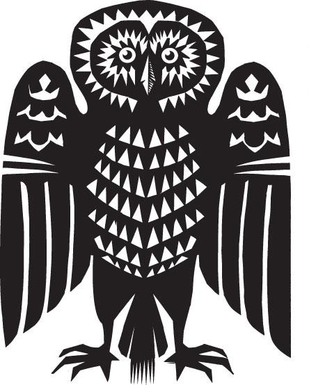 Cut paper owl, Q. Cassetti, 2013