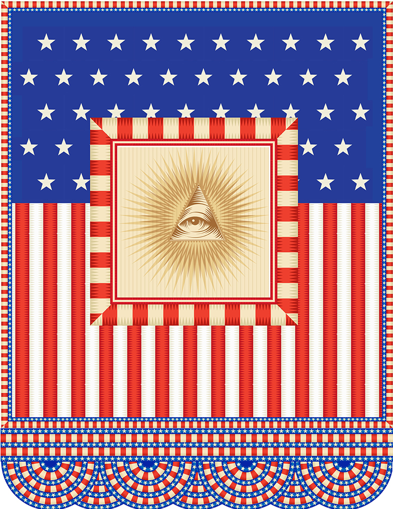 My America, All Seeing Eye, Q. Cassetti, July 2013, Adobe Illustrator CC