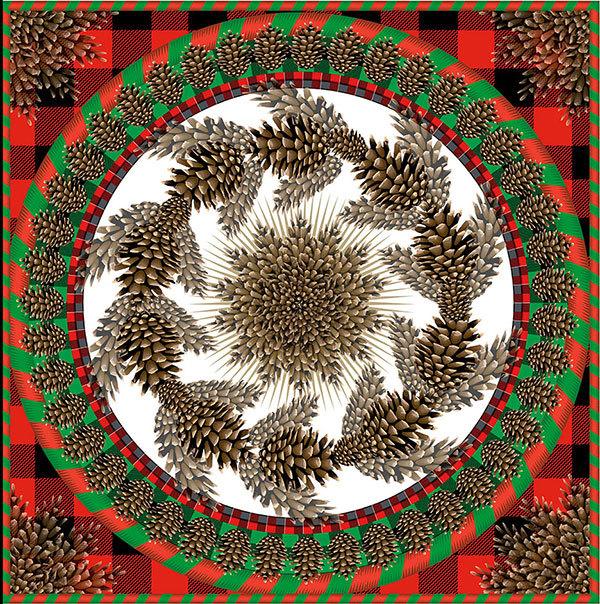 Adirondack Wreath, 2013  Q. Cassetti, Trumansburg NY  Adobe Illustrator CC