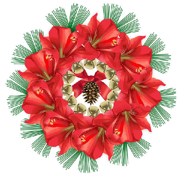 Advent 2013: Day Four: Amaryllis Wreath, Q. Cassetti, 2013