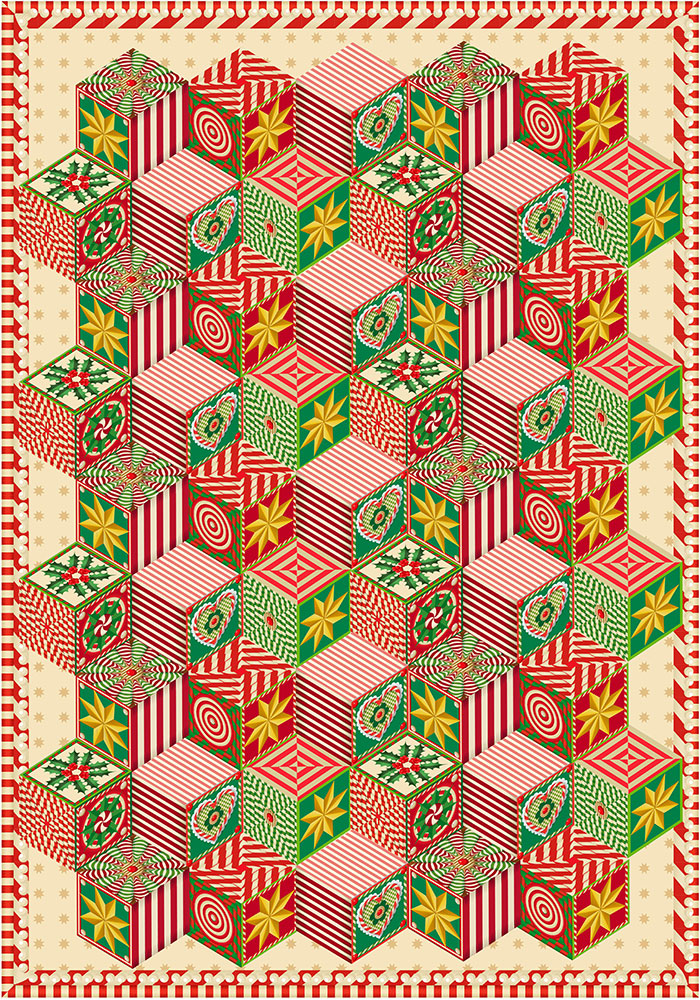 Advent Quilt  Q. Cassetti, 2013  Adobe Illustrator