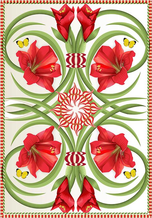 Amaryllis Twist, Q. Cassetti 2013  Trumansburg, NY  Adobe Illustrator CC