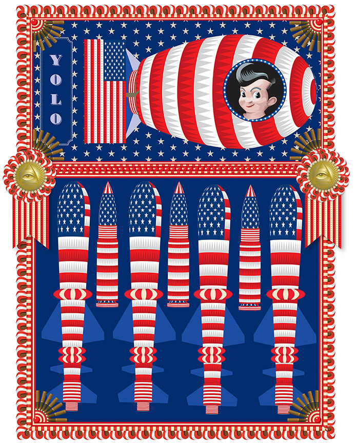 My America: Big Boy, Fat Boy  Q. Cassetti 2013  Trumansburg, NY, Adobe Illustrator CC