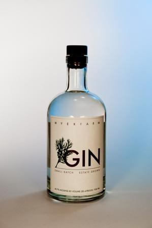 Myer Farm Distillers, Gin, Photo by Andrea Murray, Label design, Q. Cassetti