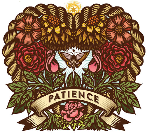 Patience, Q. Cassetti, 2014, pen and ink, digitally colored