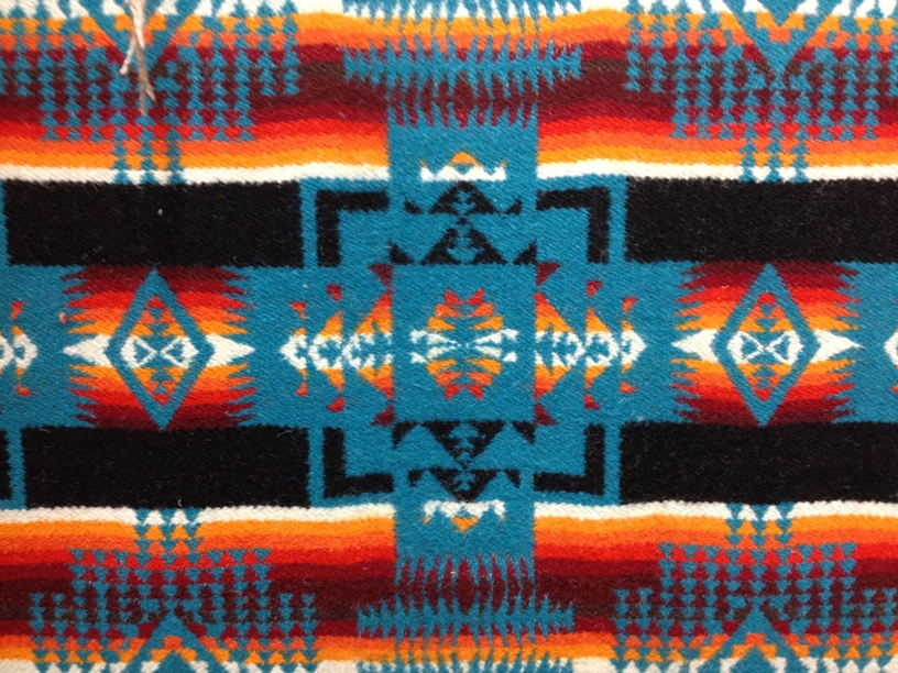 Detail, Chief Joseph Blanket (from Pendleton Woolen Mills).