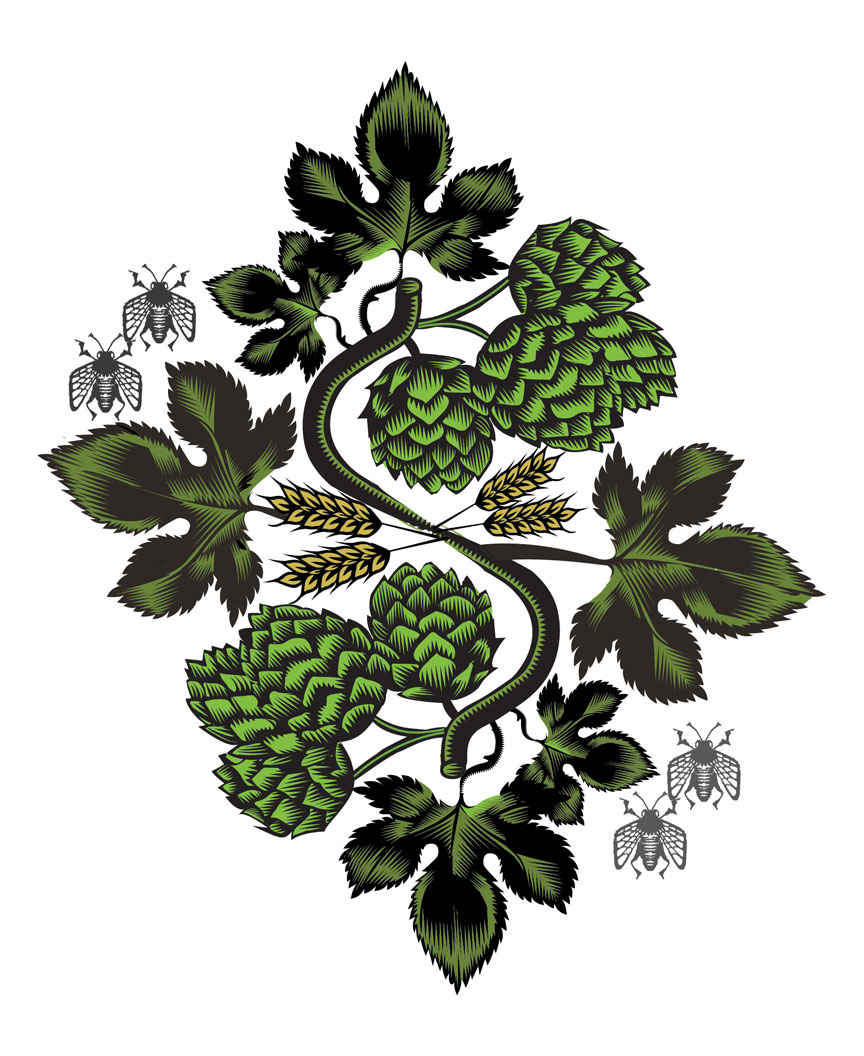 In Pursuit of Hops, Q. Cassetti, 2014, Adobe Illustrator CC