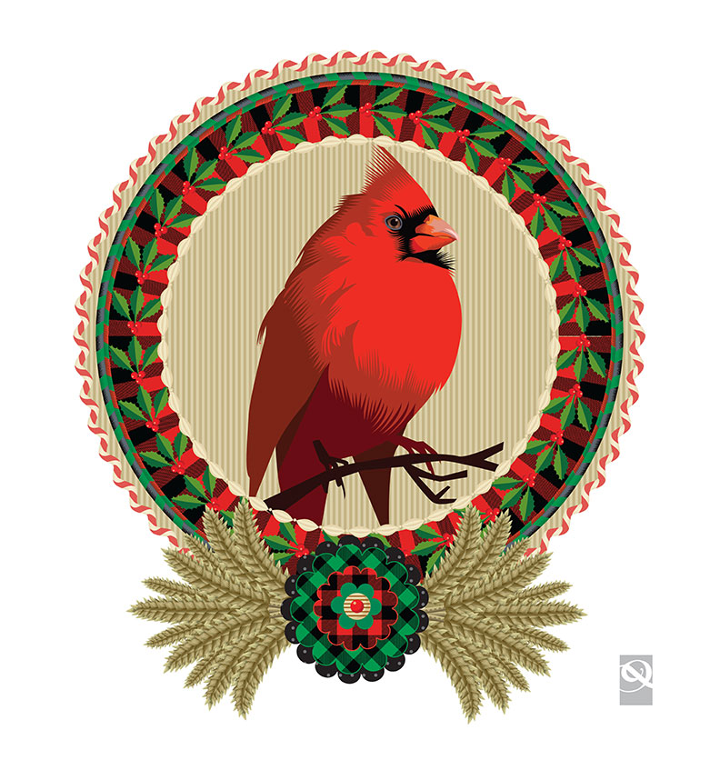 Advent 2014: Day Seven: In Honor of My Cousin, Martha H. Giltinan, Q. Cassetti, 2013, Adobe Illustrator CC