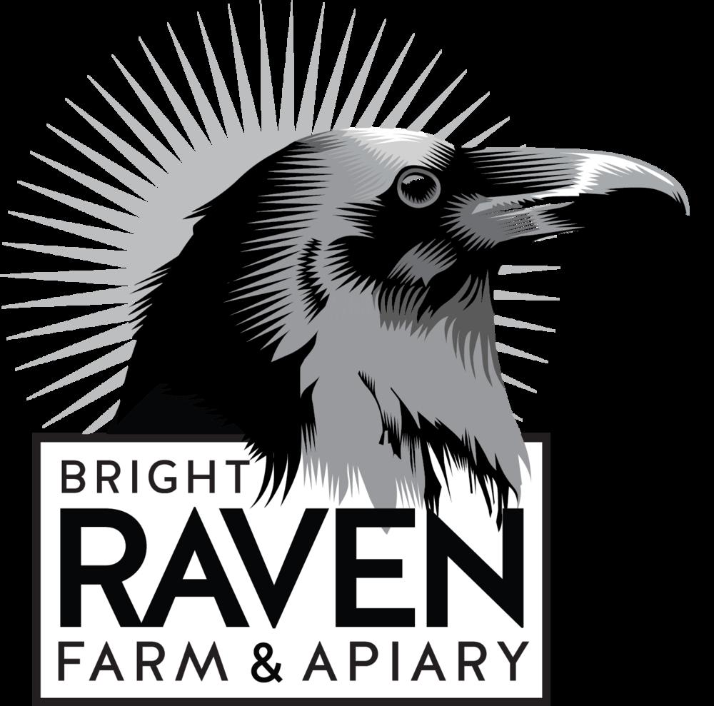 New logo for Bright Raven Farm & Apiary.