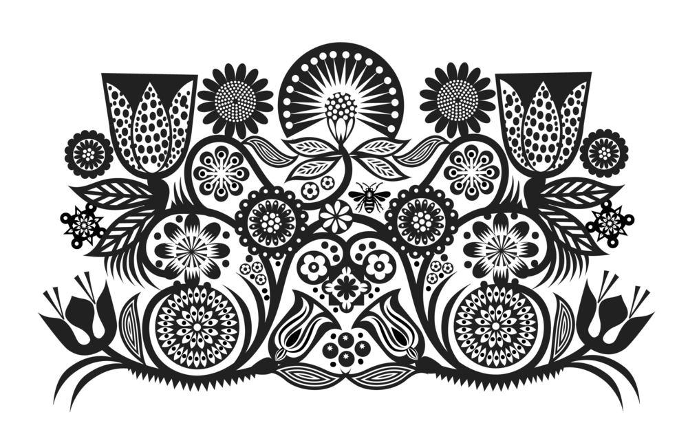 Inspired by Alexander Girard Flower Factory #1 Q. Cassetti 2015 Adobe Illustrator CS 2014