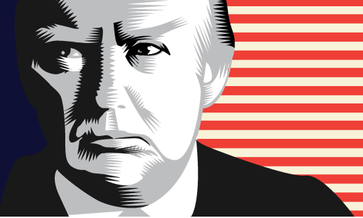 Donald Trump Portraits 2015 Q. Cassetti Adobe Illustrator 2015