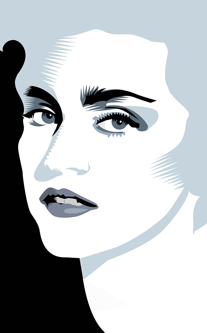 One Hour Portrait, Madonna Portrait Warmup Q. Cassetti, 2015 Adobe Illustrator