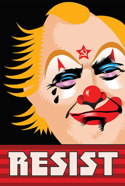 Week Eight of the Resistance  Q.Cassetti 3.17.2017 Adobe Illustrator Clown without the laughs