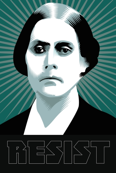 "Organize, agitate, educate, must be our war cry."" Susan B. Anthony- Week Fourteen of the Resistance  Q.Cassetti 4.28.2017 Susan persisted."