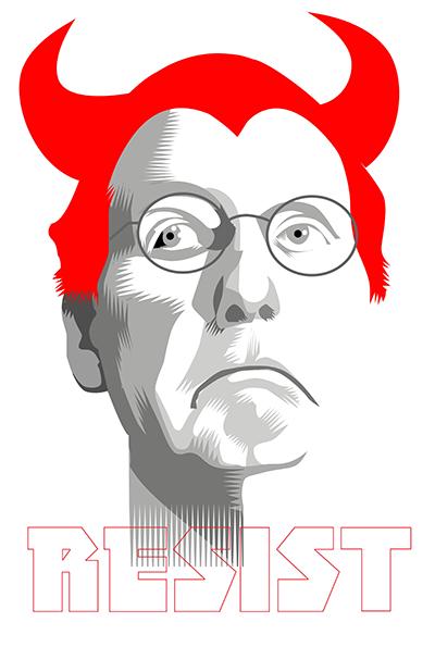 The Devil you know.... Week Twenty Three of the Resistance Q.Cassetti 6 30.2017 Adobe Illustrator CC