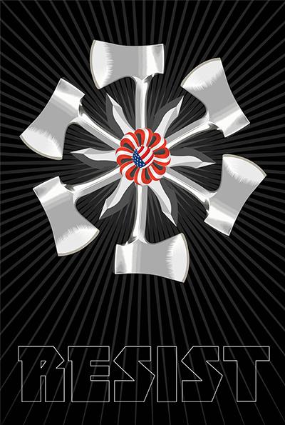 Wheel of Fortune: Hatchet Job or Shiv? Week Twenty Eight of the Resistance Q.Cassetti 8.04.2017 Adobe Illustrator