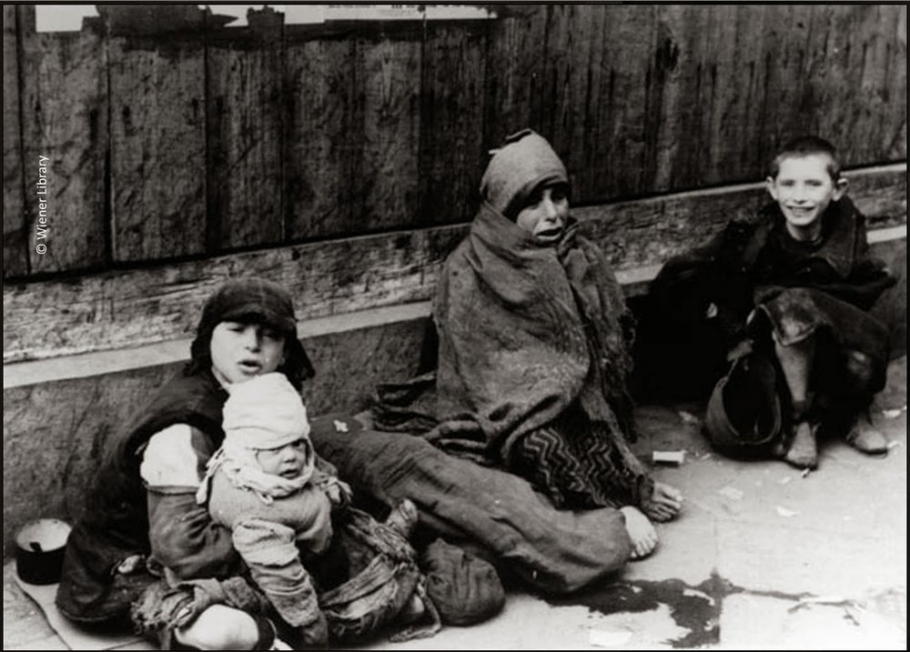 Homeless children within the ghetto.