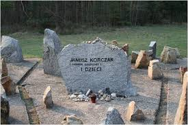 The memorial stone at Treblinka to Janusz Korczak and the children.
