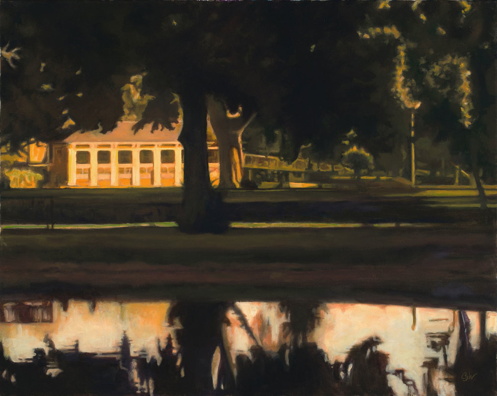 """Washington Park Evening"" / Oil on Canvas / 30"" x 24"" / Betsy Johnson Welty"