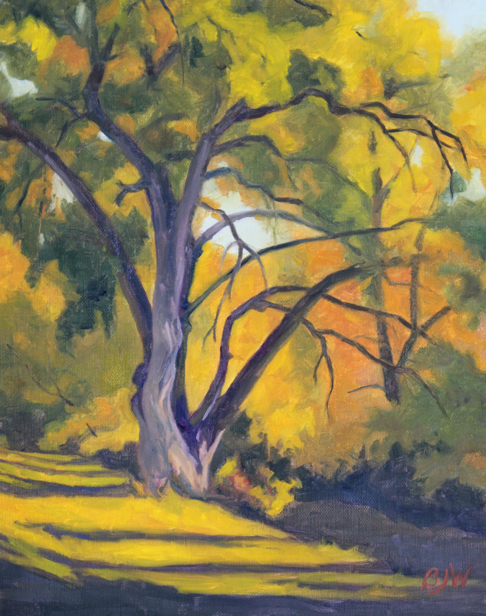 """High Line Shadows,"" by Betsy Johnson Welty, Oil on Canvas, 10"" x 8"""