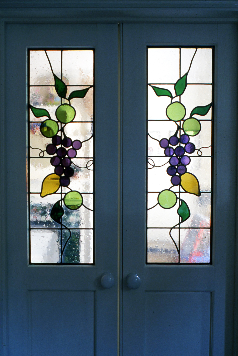 Grapes dining room door, Barnes, London.
