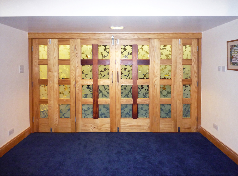 Chapel doors for Pilgrim's Hospice, Ashford, Kent.