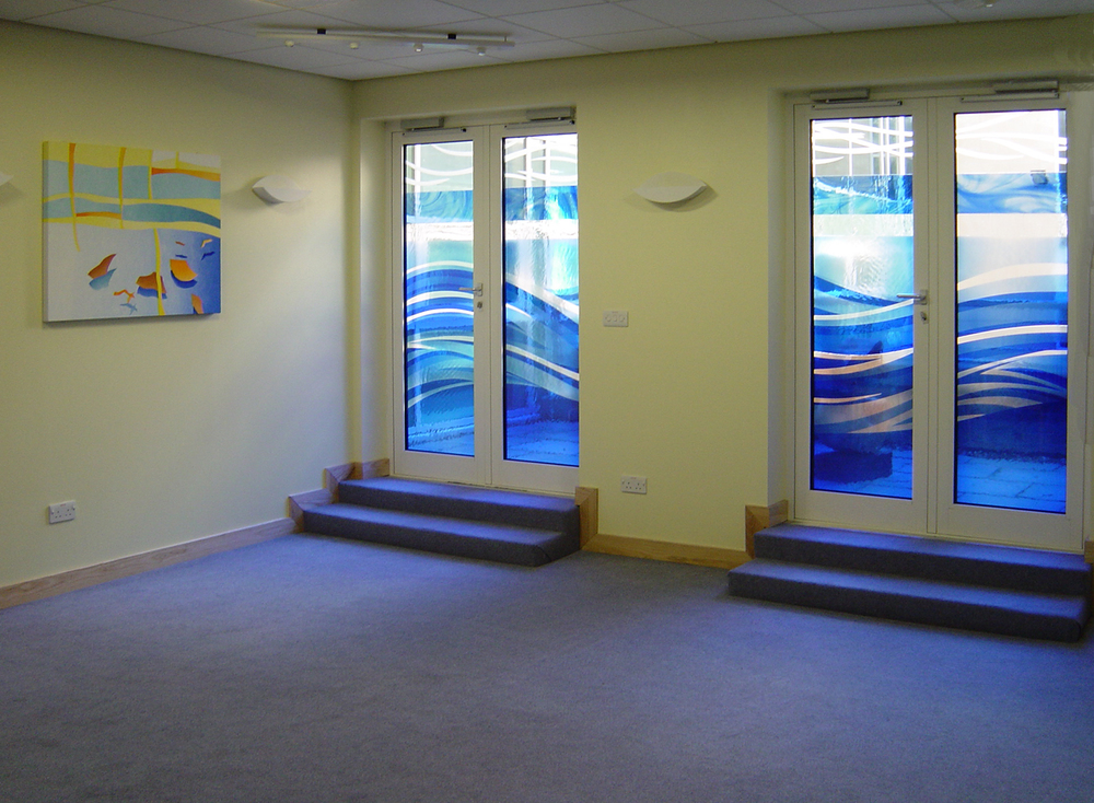 Doors and paintings for multi-faith room, Royal Berkshire Hospital, Reading.