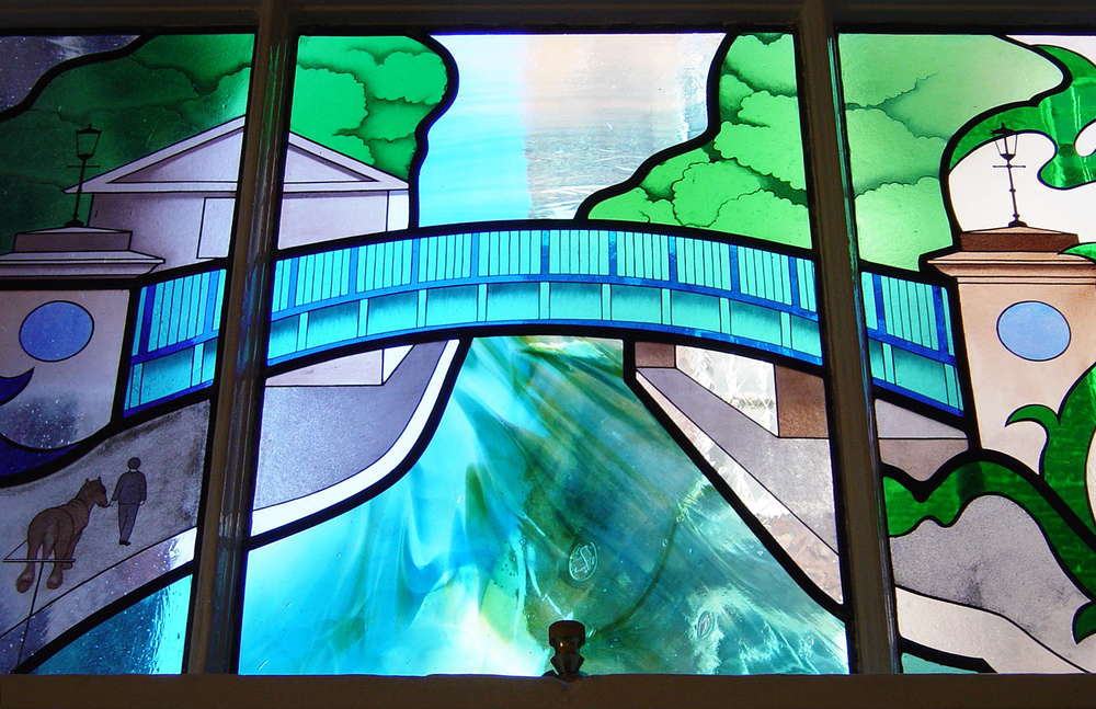 Detail of window in Lewis Loyd Ward St Mary's Hospital