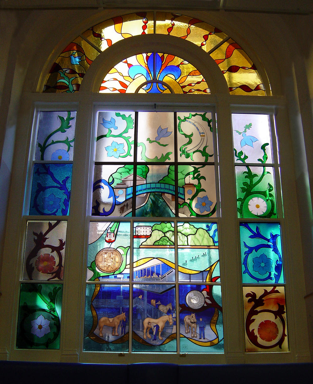 Window in Lewis Loyd ward, St Mary's Hospital, Paddington.