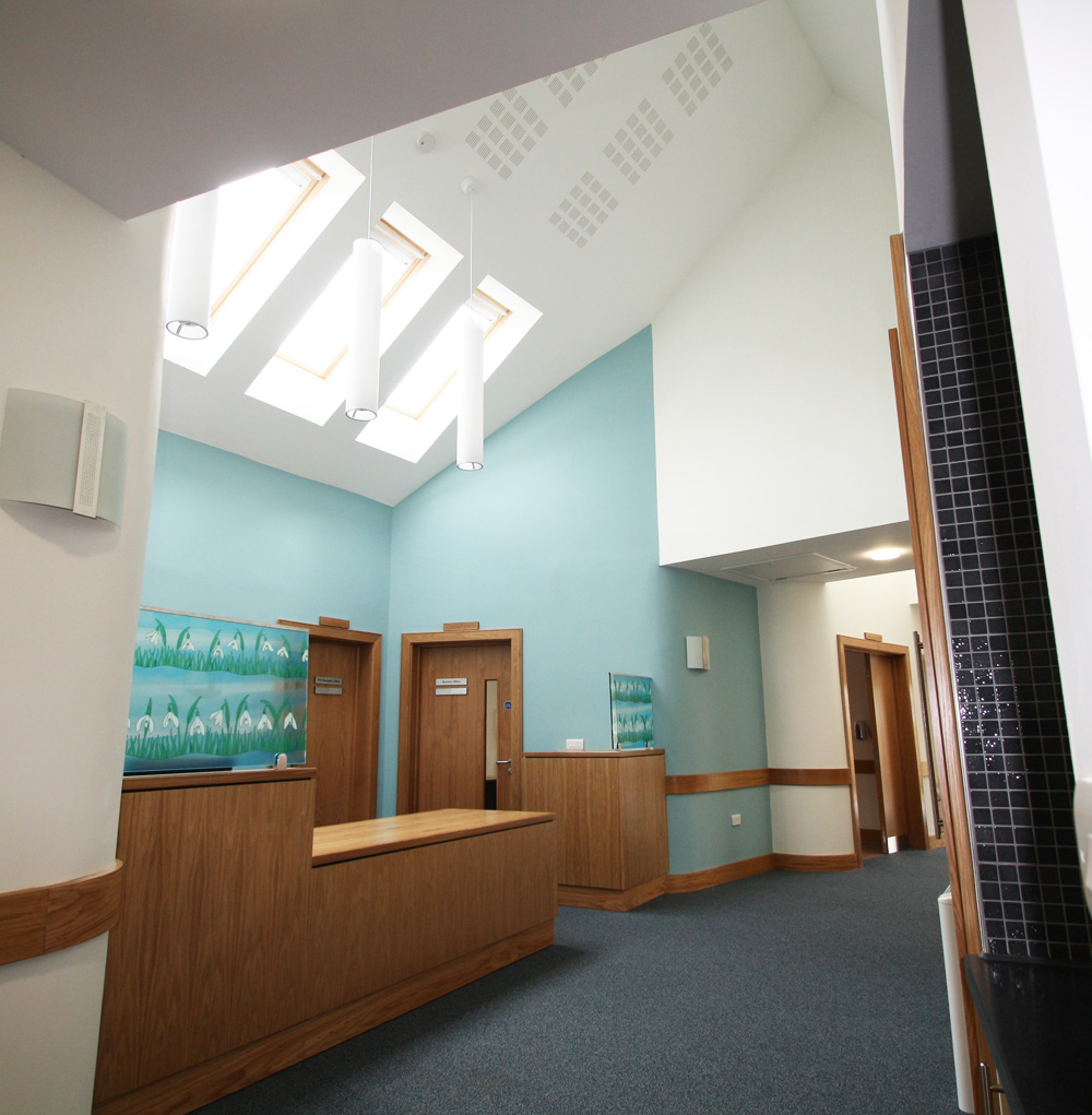 Screens for St Richard's Hopsice, Worcester. In-Patient Unit.