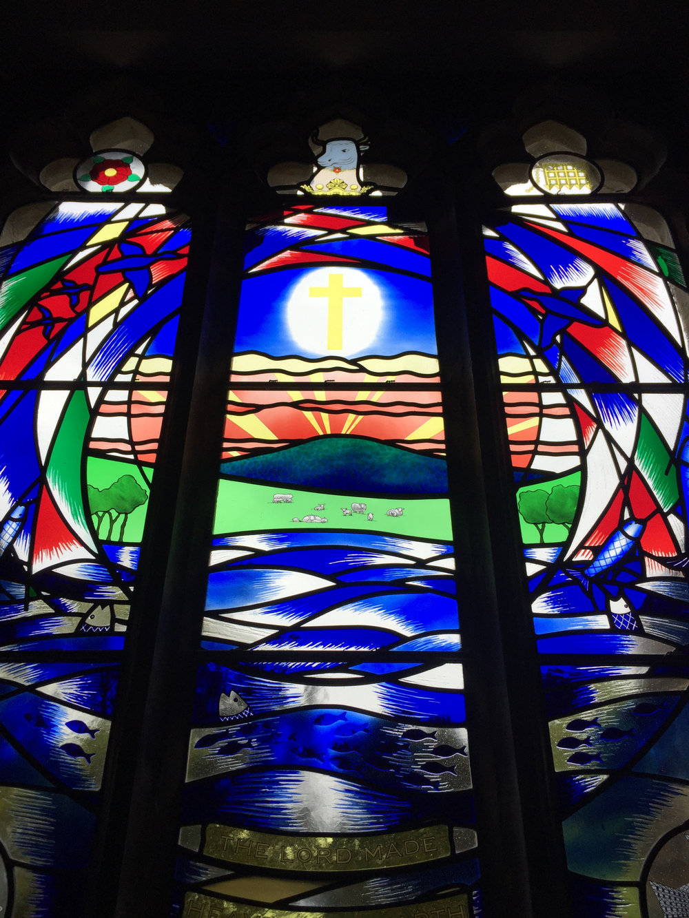 Eridge Church stained glass window