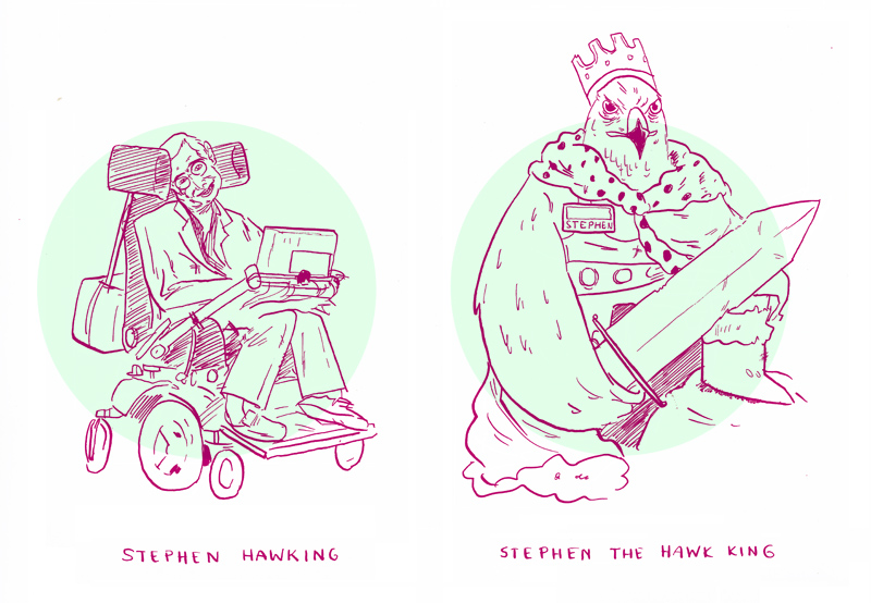Futile comics: Stephen the Hawk King